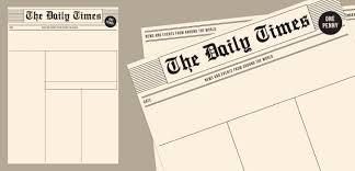 Newspaper Template App Old Newspaper Template Paperzip
