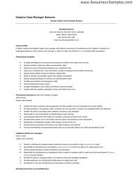 Sample Resume For Case Manager Costumepartyrun