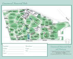 greenwood memorial park  park map on behance