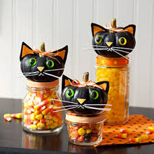 Decorated Candy Jars Halloween Cat Craft Halloween Pumpkin Crafts ALL YOU 33
