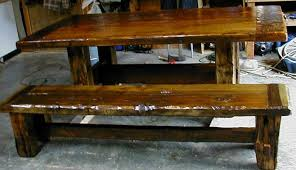 barnwood dining table matching bench