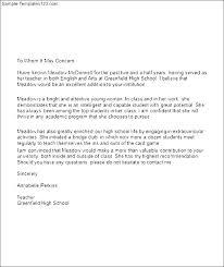 Letter Of Recommendation Template Teacher Elevenia Co