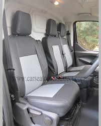 ford transit custom 6th gen black grey van seat covers