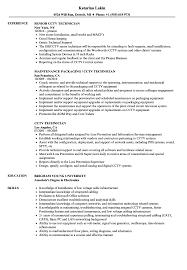 Cctv Technician Resume Samples Velvet Jobs