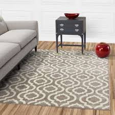 jasmin collection moroccan trellis design gray and ivory 3 ft x 10 ft runner