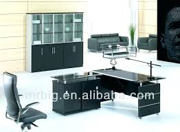 office desk cover. Office Table Cover Desk Executive Glass With Metal Computer .