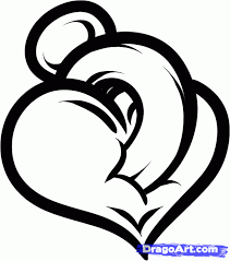 cool designs to draw. How To Draw A Heart Design, Step By Step, Tattoos, Pop Culture Cool Designs