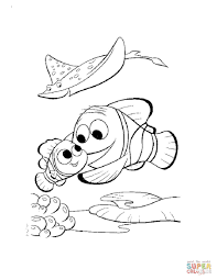 Nemo And Marlin Return Home Coloring Page Free Printable Coloring