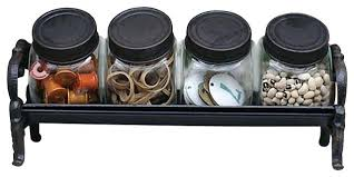 Decorative Glass Jars For Kitchen Decorative Jars For Kitchen Colorful Mason Jar Organizer For 27