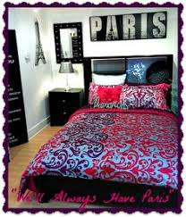 paris themed teenage bedroom ideas. paris themed room made easy with a bold print duvet cover are glamorous accents teenage bedroom ideas