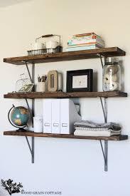 office shelves. Brilliant Shelves DIY Office Shelves By The Wood Grain Cottage 21 Throughout