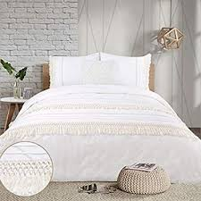 yinfung boho duvet cover queen ivory