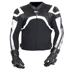 berik protect mens leather jacket black white motorcycle accessories australia scm