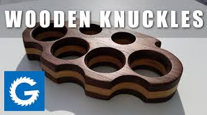 Wooden Knuckles How To Make Brass Knuckles Wooden Knuckle Dusters Youtube