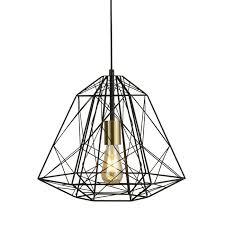 geometric wire cage pendant copper
