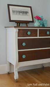 Two tone furniture painting Two Toned Chalk Paint Two Tone Dresser Side Pinterest Two Tone Vintage Rose Dresser House Ideas Pinterest Dresser