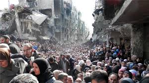 Image result for people refugees flee war