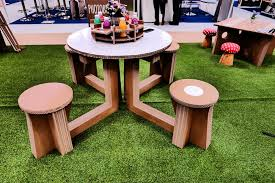 eco event round cardboard picnic table