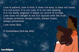 As a man thinketh in his heart so is he — proverbs 23:7. Love Is Patient Love Is Kind Verse By Verse Analysis