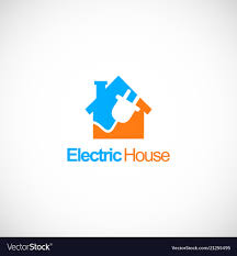 Electric House Company Logo Royalty Free Vector Image