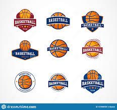 Templates For Logo Basketball Logo Emblem Icons Collections Vector Templates