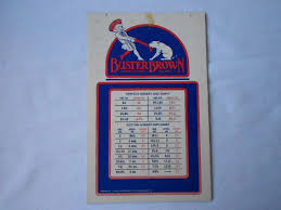 Buster Brown Socks Size Chart Vintage Buster Brown Hosiery Size Chart By Theartifactattic