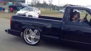 Sick Dropped OBS Silverado Step Side On Billets - YouTube