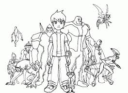 Small Picture Get This Free Ben 10 Coloring Pages 18fg11