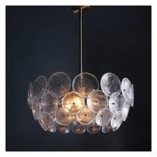 west elm glass disc chandelier west elm chandelier lighting light fixtures pendant lights featuring polyvore home lighting ceiling lights