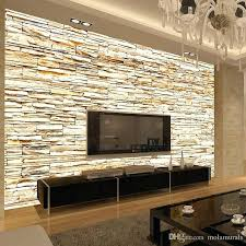 stone wall mural non woven fashion stone bricks wallpaper mural for living room sofa background walls