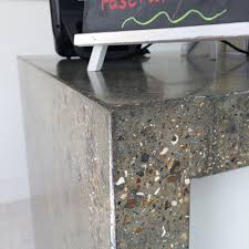 polished concrete furniture. Conscious Forms - St Raphaels Hospice Cheam Orangery Cafe Polished Concrete Service Counter With Waterfall Ends Furniture