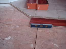 tile pergo transition floor levelling