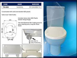 ts 900 haron toilet seat yandina colour white finish abs plastic dimensions 370mm width x 430 450mm length hinge adjuility 135 200mm