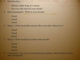 mlk essay tuesday bell ringer agenda  introduction  martin luther king jr s dream  how has that