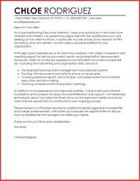 executive assistant cover letters application letter for administrative assistant new cover