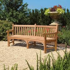 curved teak garden bench windermere