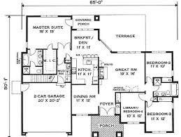 1 floor modern minimalist house plan
