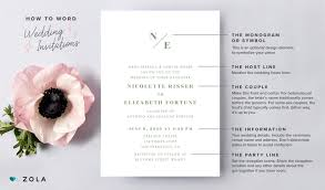 Wedding Invitation With Photo How To Word Wedding Invitations Zola Expert Wedding Advice