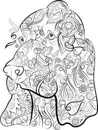 570x755 40 colouring pages digital 1 pdf print color dog