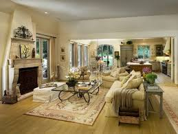 living room with fireplace for heater and decoration