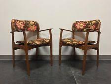erik buch for mobler model 49 teak danish mid century modern arm chairs pair 1