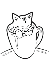 Kitten Coloring Pages Trustbanksurinamecom