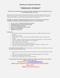 Resume Skills For Warehouse Worker Sinma Carpentersdaughter Co