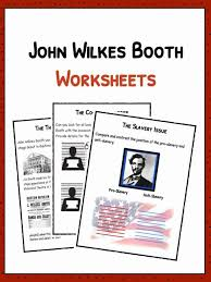 John Wilkes Booth Facts, Biography & Worksheets For Kids
