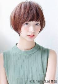 丸顔さんに似合う髪型ひし形シルエットの小顔効果でより可愛くhair