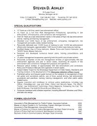 Law Enforcement Resume Law Enforcement Resume Template Law