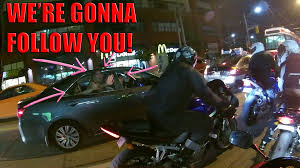 Drunk girl fingered on a motorcycle