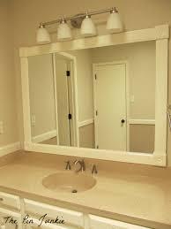 Remodelaholic Bathroom Mirror Frame Tutorial Pertaining To - Trim around bathroom mirror