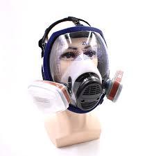 6800 fullpiece gas mask 7 piece set n95 mask air circulator anti fog chemicals respirators