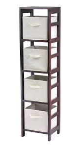 Amazon.com: Winsome Wood 4-Shelf Narrow Shelving Unit, Espresso: Kitchen &  Dining
